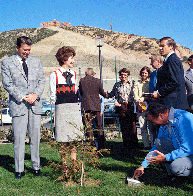 Ron and Nancy Reagan at Pepperdine