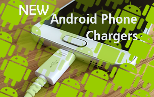 phone charging with android mascots