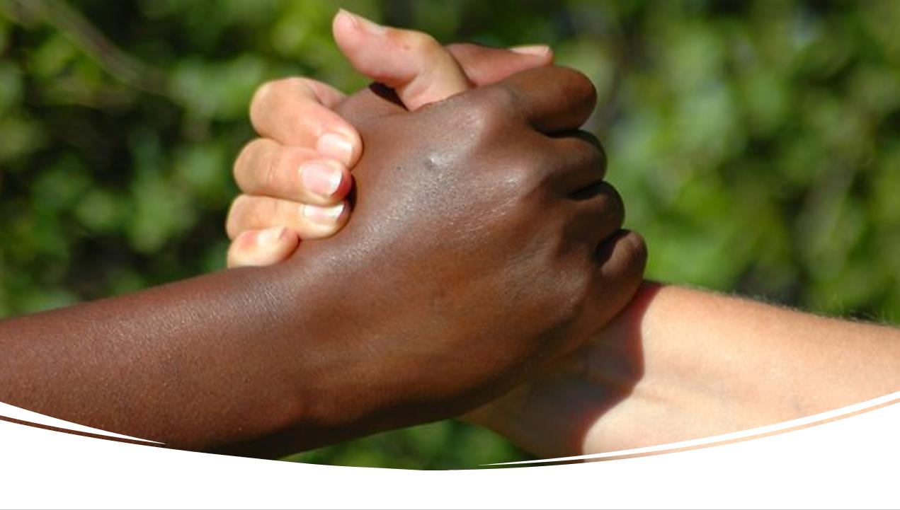 black and white friendship handshake