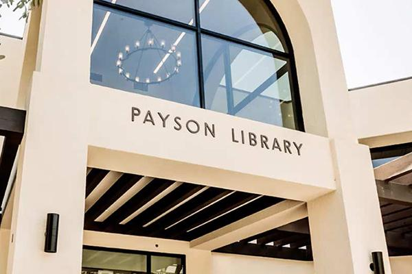 Image of the exterior of Payson Library