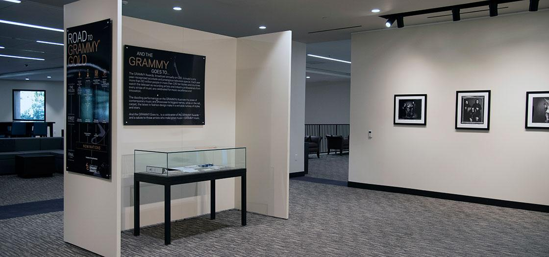 Introductory placard for the GRAMMY exhibition