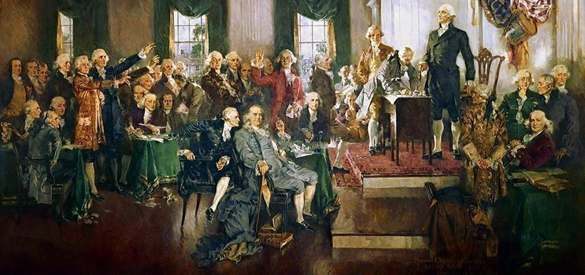 Scene at the Signing of the Constitution of the United States Painting by Howard Chandler Christy