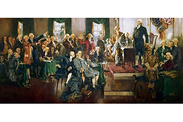 Scene at the Signing of the Constitution of the United States; Painting by Howard Chandler Christy