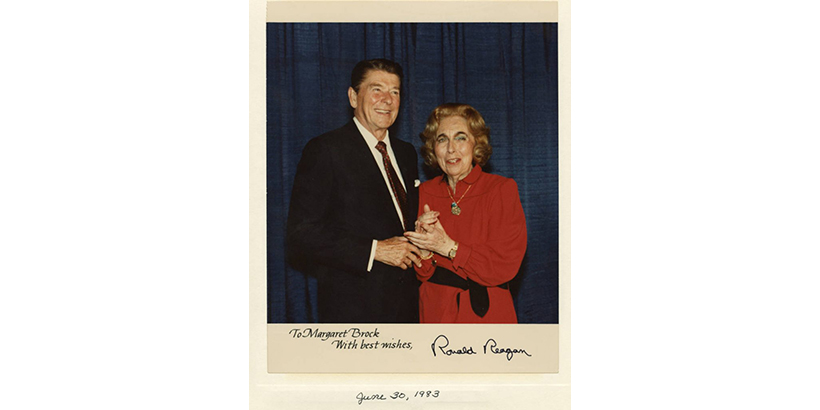 Image of Ronald Reagan and Margaret Brock
