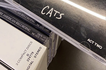 Stack of CDs, with Cats on top.