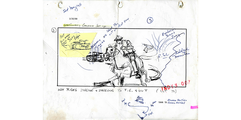 Indiana Jones storyboard